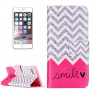 For iPhone 7 Plus Smile Leather Case with Card Slots, Wallet & Holder