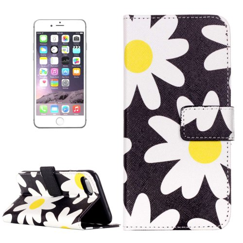 For iPhone 7 Plus Daisy Leather Case with Card Slots, Wallet & Holder