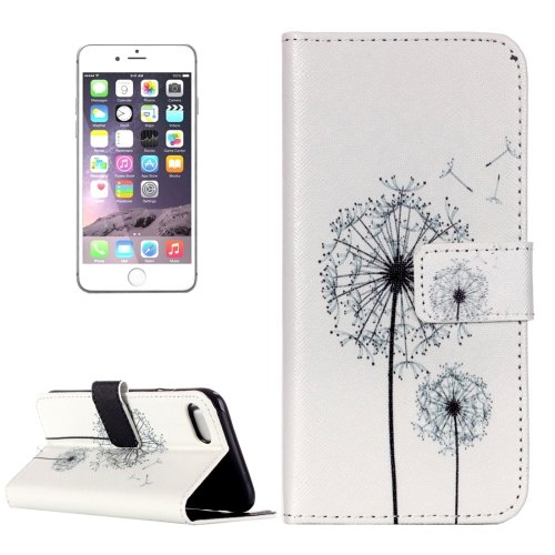 For iPhone 7 Plus Dandelion Leather Case with Card Slots, Wallet & Holder