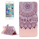 For iPhone 7 Plus Lotus Flip Leather Case with Holder & Card Slots & Wallet