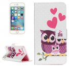 For iPhone 7 Plus Owl Flip Leather Case with Holder & Card Slots & Wallet