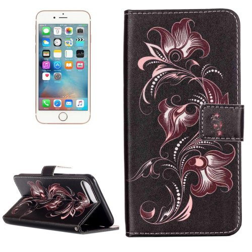 For iPhone 7 Plus Flower Flip Leather Case with Holder & Card Slots & Wallet