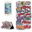 For iPhone 7 Plus Graffiti Flip Leather Case with Holder & Card Slots & Wallet
