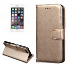 For iPhone 7 Plus Gold Knead Skin Case with Holder, Card Slots & Wallet