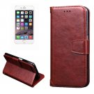 For iPhone 7 Plus Brown Knead Skin Case with Holder, Card Slots & Wallet