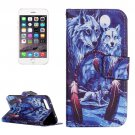 For iPhone 7 Plus Wolves Leather Case with Holder, Card Slots & Wallet
