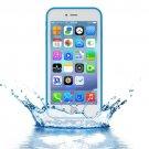 For iPhone 7 Plus Blue Tridimensional Diamond Waterproof TPU + PC Case