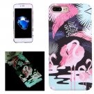 For iPhone 7 Plus Big Ostrich Pattern PC Protective Case with Noctilucent