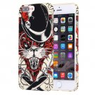 For iPhone 7 Plus Water Decals Cartoon Animal Lynx Pattern PC Case