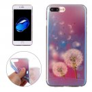 For iPhone 7 Plus Magic Dandelion Pattern Blue-ray TPU Soft Back Cover Case