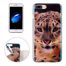 For iPhone 7 Plus Magic Leopard Pattern Blue-ray TPU Soft Back Cover Case