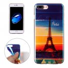 For iPhone 7 Plus Magic Paris Pattern Blue-ray TPU Soft Back Cover Case