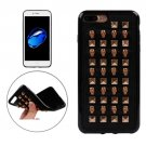 For iPhone 7 Plus Golden Skull Quartet Nail Rivet TPU + Metal Soft Case