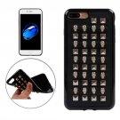 For iPhone 7 Plus Silver Quartet Nail Rivet Style TPU + Metal Soft Case