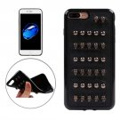 For iPhone 7 Plus Ball Skull Rivet Style TPU + Metal Soft Case