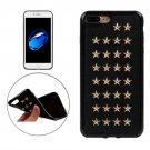 For iPhone 7 Plus Golden Star Rivet Style TPU + Metal Soft Case