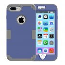 For iPhone 7 Plus Separable Dark Blue color PC + Silicone Combination Case