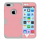 For iPhone 7 Plus Separable Pink color PC + Silicone Combination Case