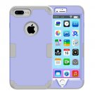 For iPhone 7 Plus Separable Grey/Purple color PC + Silicone Combination Case