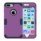 For iPhone 7 Plus Separable Purple color PC + Silicone Combination Case