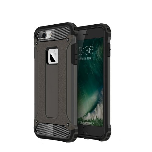 For iPhone 7 Plus Coffee Tough Armor TPU + PC Combination Case
