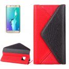 For Galaxy S6 Edge Red Envelope Leather Case with Card Slots & Wallet