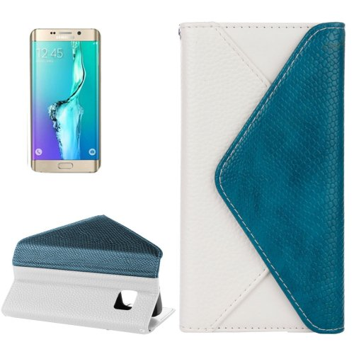 For Galaxy S6 Edge White Envelope Leather Case with Card Slots & Wallet