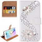 For Galaxy S6 Edge Diamond Pattern U Leather Case with Holder & Card Slots