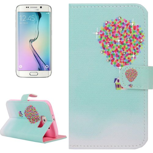 For Galaxy S6 Edge Balloon Leather Case with Holder, Wallet & Card Slots
