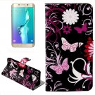 For Galaxy S6 Edge Butterfly Leather Case with Holder, Wallet & Card Slots