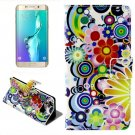 For Galaxy S6 Edge Daisy Leather Case with Holder, Wallet & Card Slots