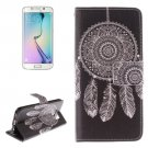 For Galaxy S6 Edge Windbell Pattern Leather Case with Holder, Card Slot & Wallet