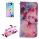 For Galaxy S6 Edge Smudge Pattern Leather Case with Holder, Card Slot & Wallet