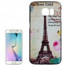 For Galaxy S6 Edge Tour Eiffel Pattern Plastic Hard Case