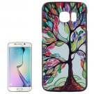 For Galaxy S6 Edge Colorful Tree Pattern Plastic Hard Case