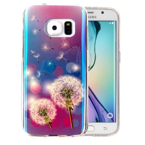 For Galaxy S6 Edge Dandelions Pattern Blu-ray Soft TPU Protective Case