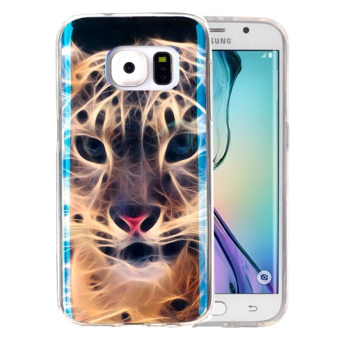 For Galaxy S6 Edge Tiger Pattern Blu-ray Soft TPU Protective Case