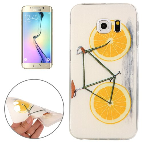 For Galaxy S6 Edge Lemon Pattern TPU Protective Case