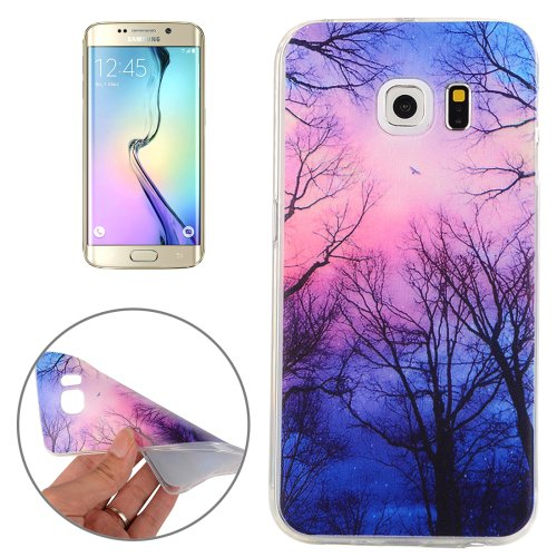 For Galaxy S6 Edge Clouds Pattern TPU Protective Case