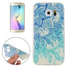 For Galaxy S6 Edge Leaves Pattern TPU Protective Case