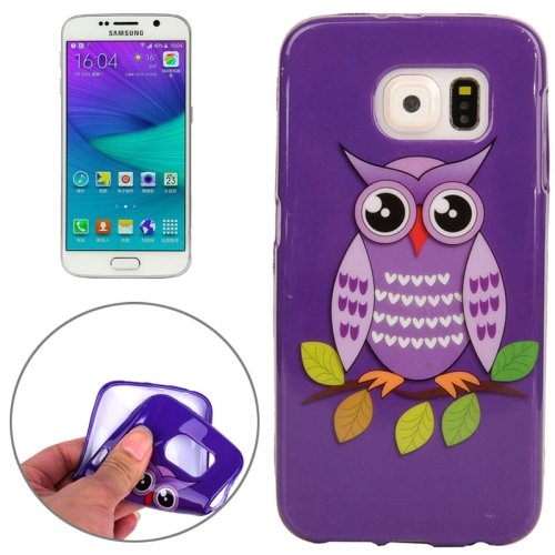 For Galaxy S6 Edge Owl Pattern TPU Protective Case