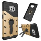 For Galaxy S6 Edge Gold Tough Armor Rotating Combination Case with Holder