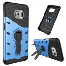 For Galaxy S6 Edge Blue Tough Armor Rotating Combination Case with Holder