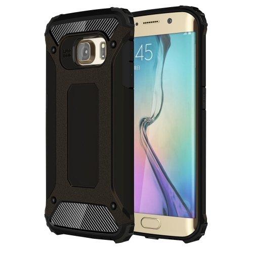 For Galaxy S6 Edge Black Tough Armor TPU + PC Combination Case
