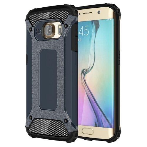 For Galaxy S6 Edge Dark Blue Tough Armor TPU + PC Combination Case
