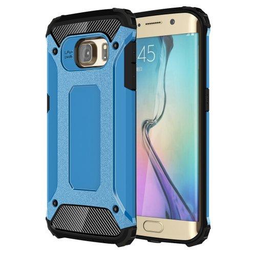 For Galaxy S6 Edge Blue Tough Armor TPU + PC Combination Case