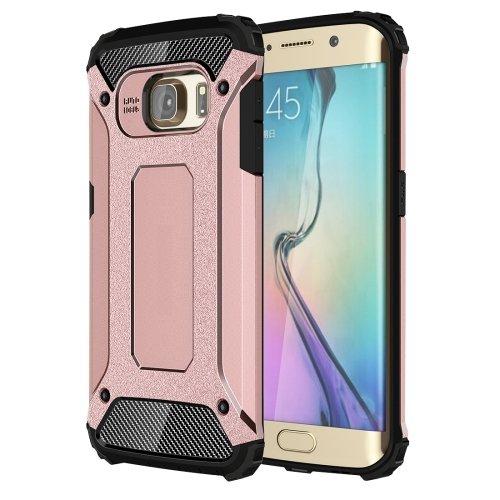 For Galaxy S6 Edge Rose Gold Tough Armor TPU + PC Combination Case