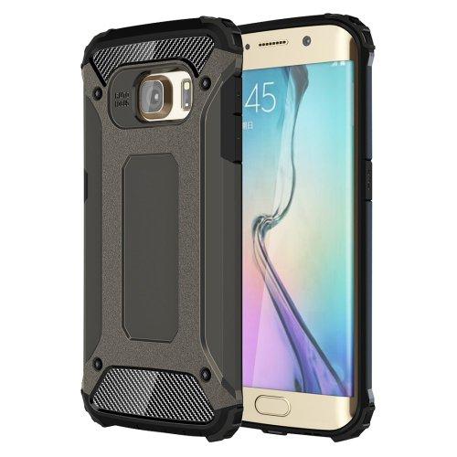 For Galaxy S6 Edge Bronze Tough Armor TPU + PC Combination Case