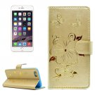 For iPhone 6/6s Butterfly Leather Case with Holder, Wallet & Card Slots - # Colors