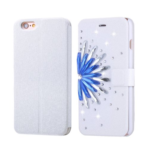 For iPhone 6/6s Fevelove Flowers Magnetic Buckle Leather Case with Card Slots
